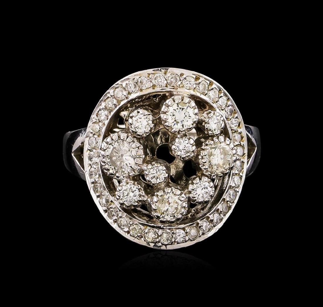 14KT White Gold 0.81 ctw Diamond Ring - 2