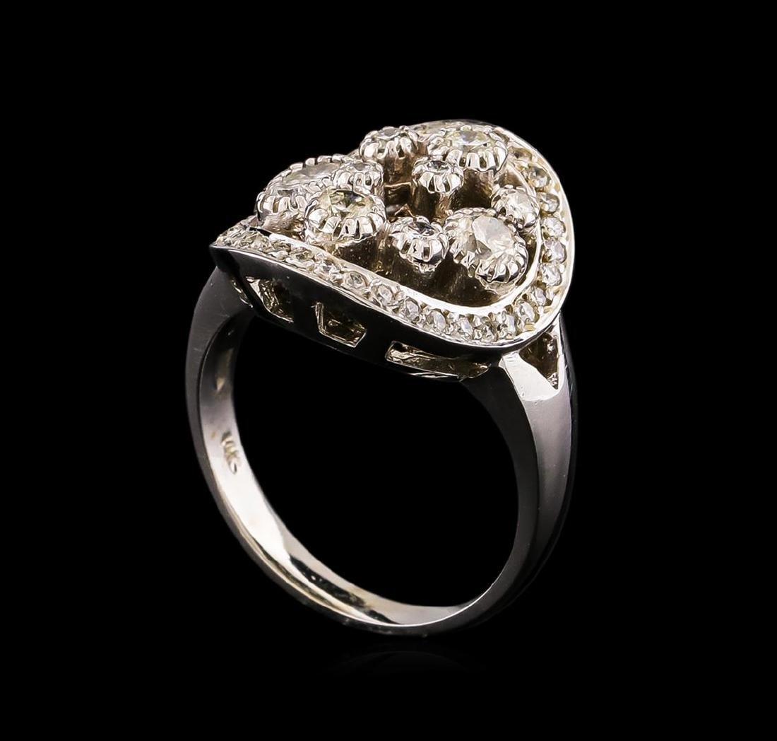 14KT White Gold 0.81 ctw Diamond Ring - 4