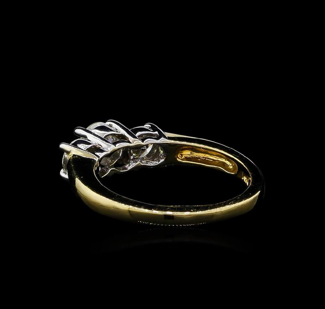 1.00 ctw Diamond Ring - 14KT Yellow Gold - 3