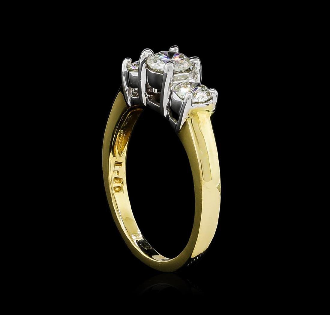 1.00 ctw Diamond Ring - 14KT Yellow Gold - 4