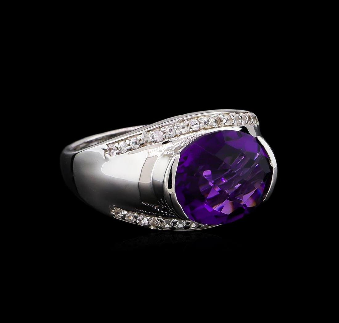 Crayola 3.95 ctw Amethyst and White Sapphire Ring -