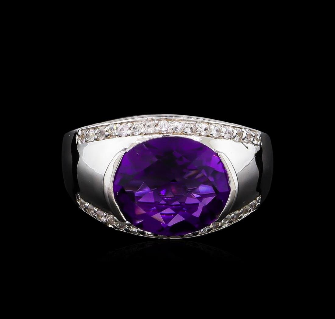 Crayola 3.95 ctw Amethyst and White Sapphire Ring - - 2