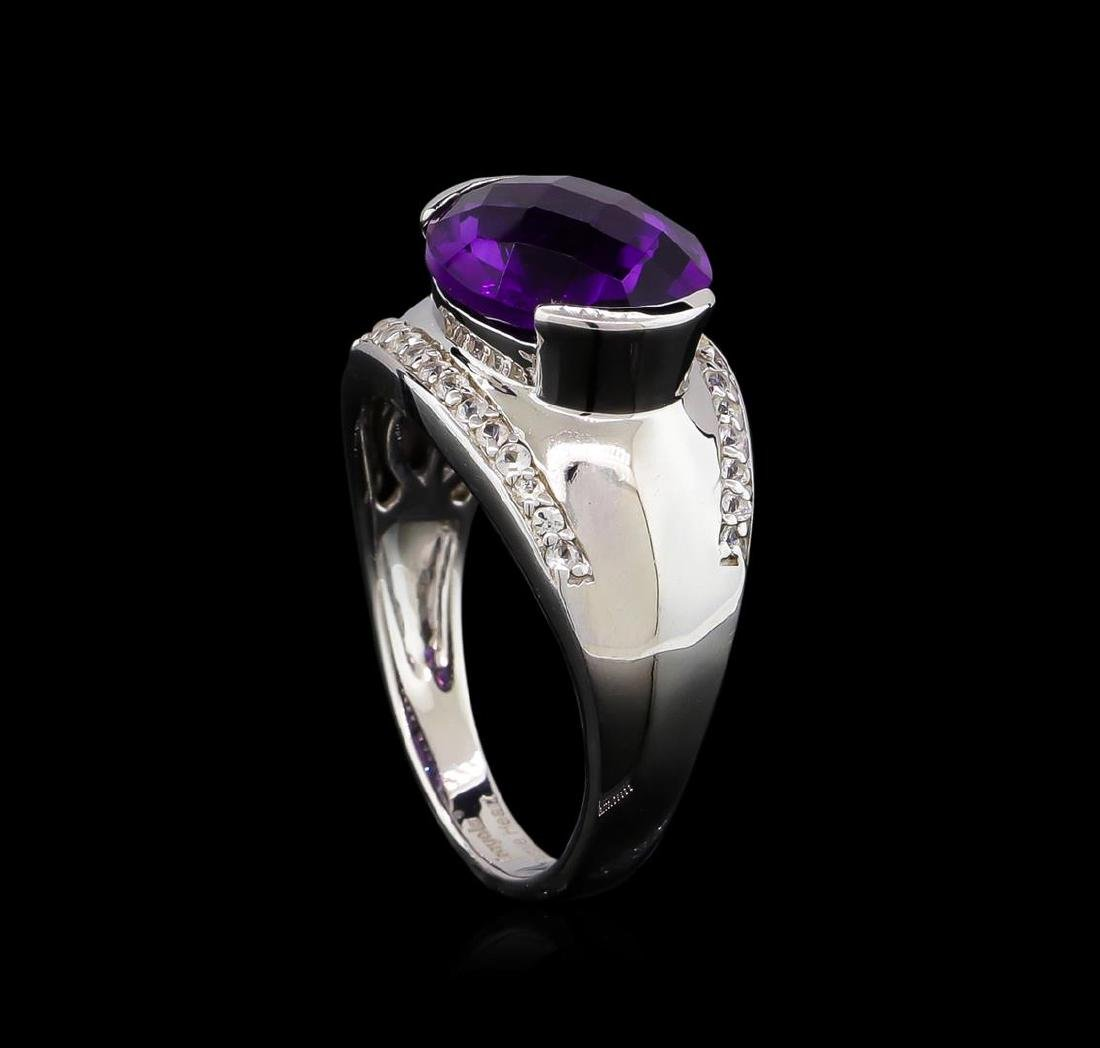 Crayola 3.95 ctw Amethyst and White Sapphire Ring - - 4
