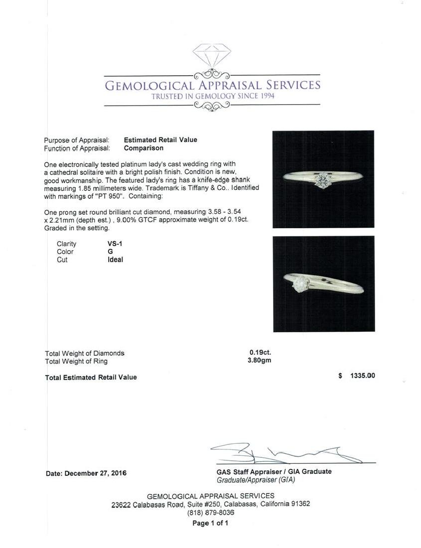0.19 ctw Diamond Ring - Platinum - 5