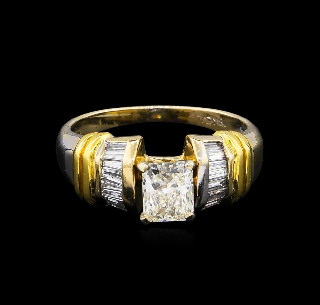 GIA Cert 1.26 ctw Diamond Ring - 18KT Two-Tone Gold - 2