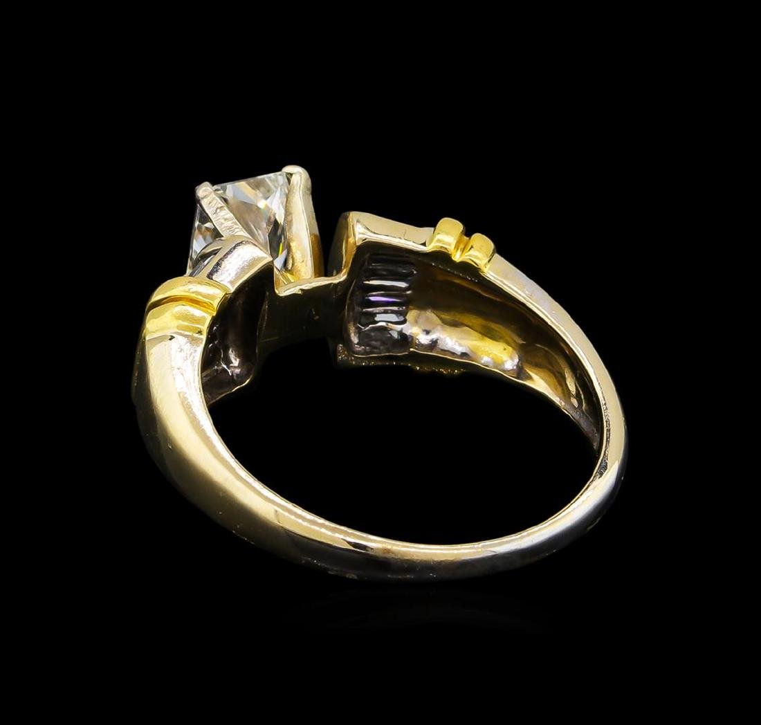 GIA Cert 1.26 ctw Diamond Ring - 18KT Two-Tone Gold - 3