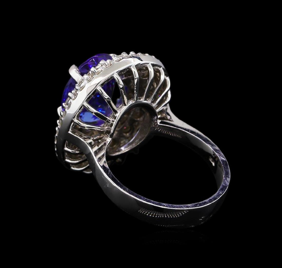 5.12 ctw Tanzanite and Diamond Ring - 14KT White Gold - 3