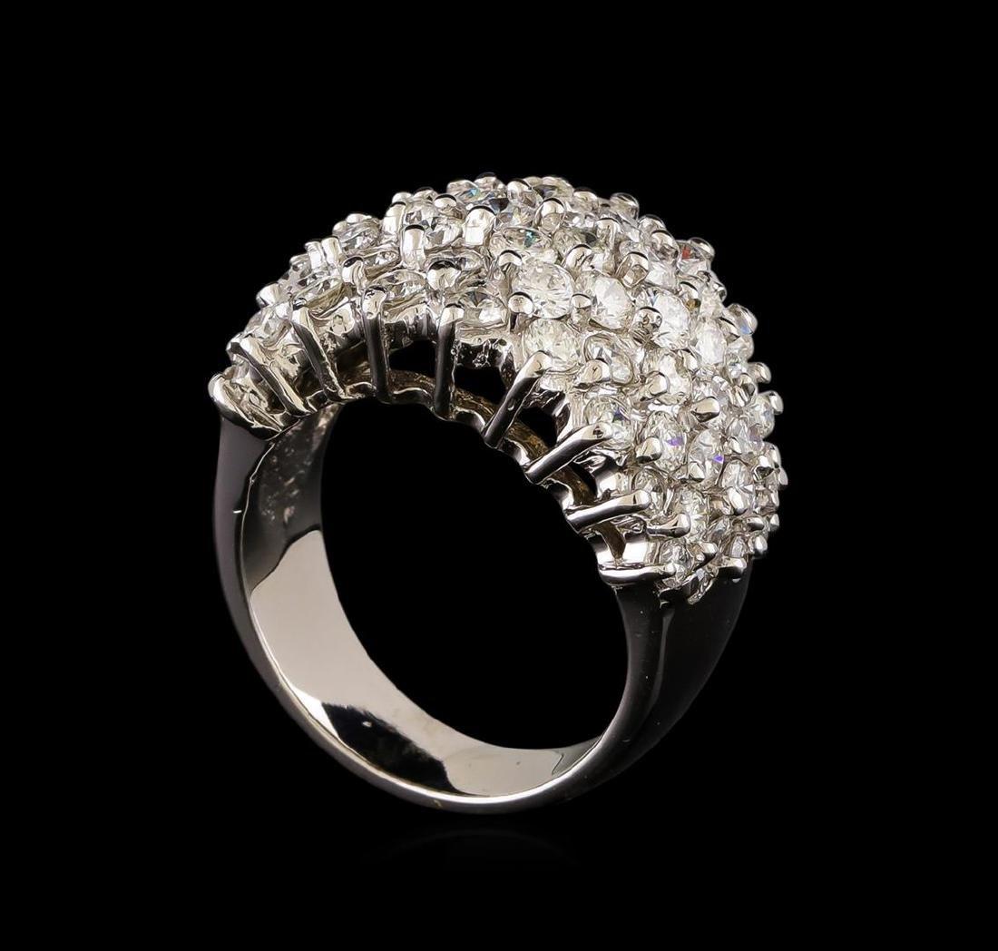 14KT White Gold 1.93 ctw Diamond Ring - 4