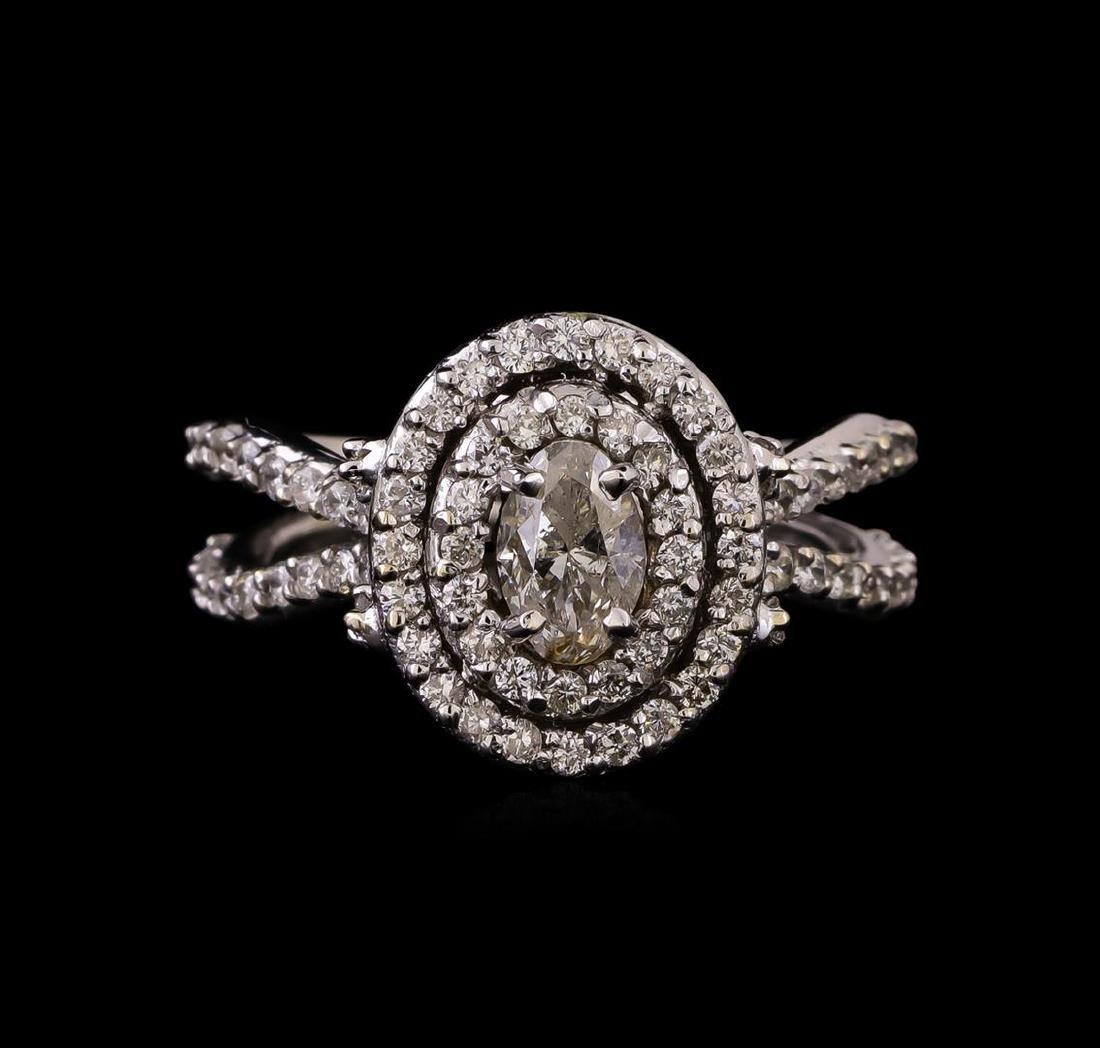 14KT White Gold 1.20 ctw Diamond Ring - 2