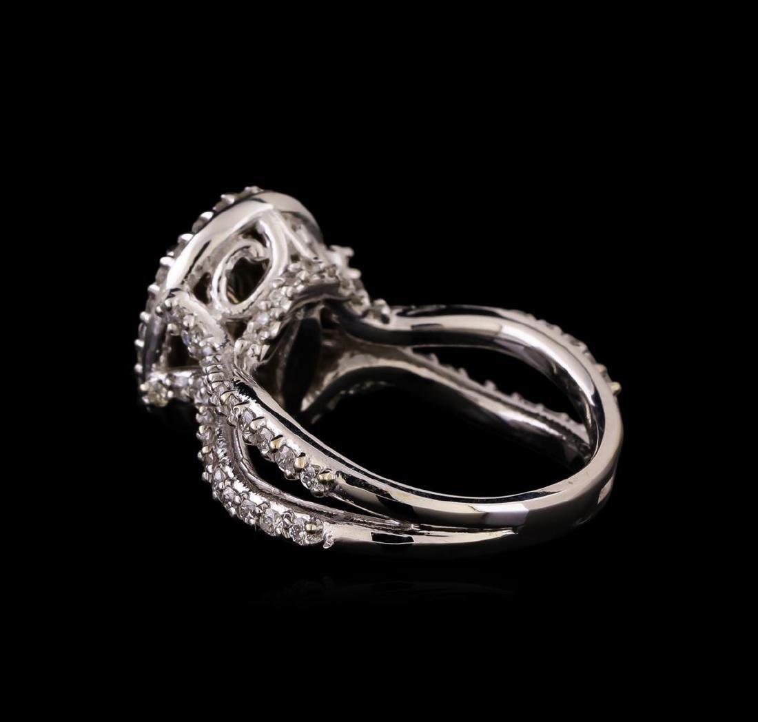 14KT White Gold 1.20 ctw Diamond Ring - 3
