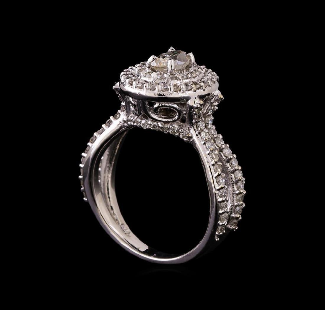 14KT White Gold 1.20 ctw Diamond Ring - 4