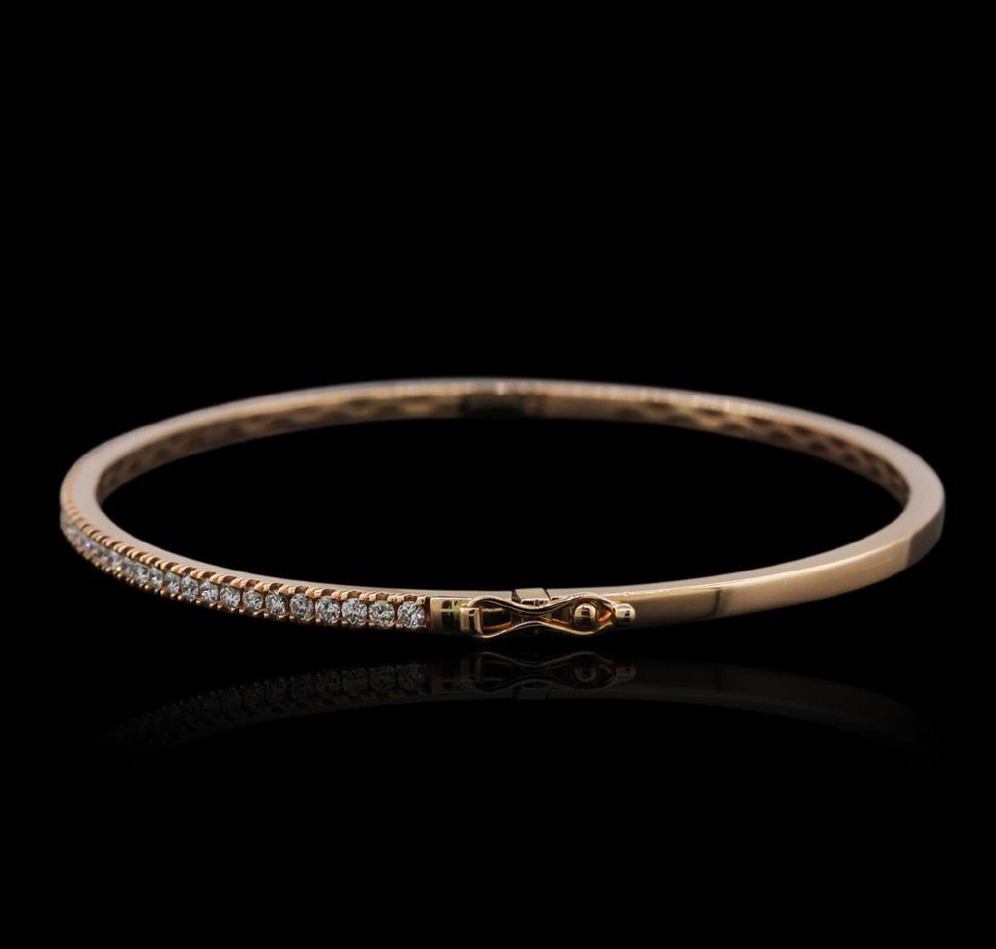 14KT Rose Gold 0.46 ctw Diamond Bracelet - 2
