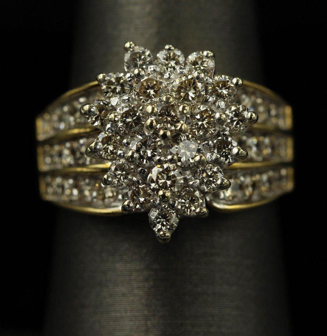 2.05 ctw Diamond Ring - 14KT Yellow Gold - 3