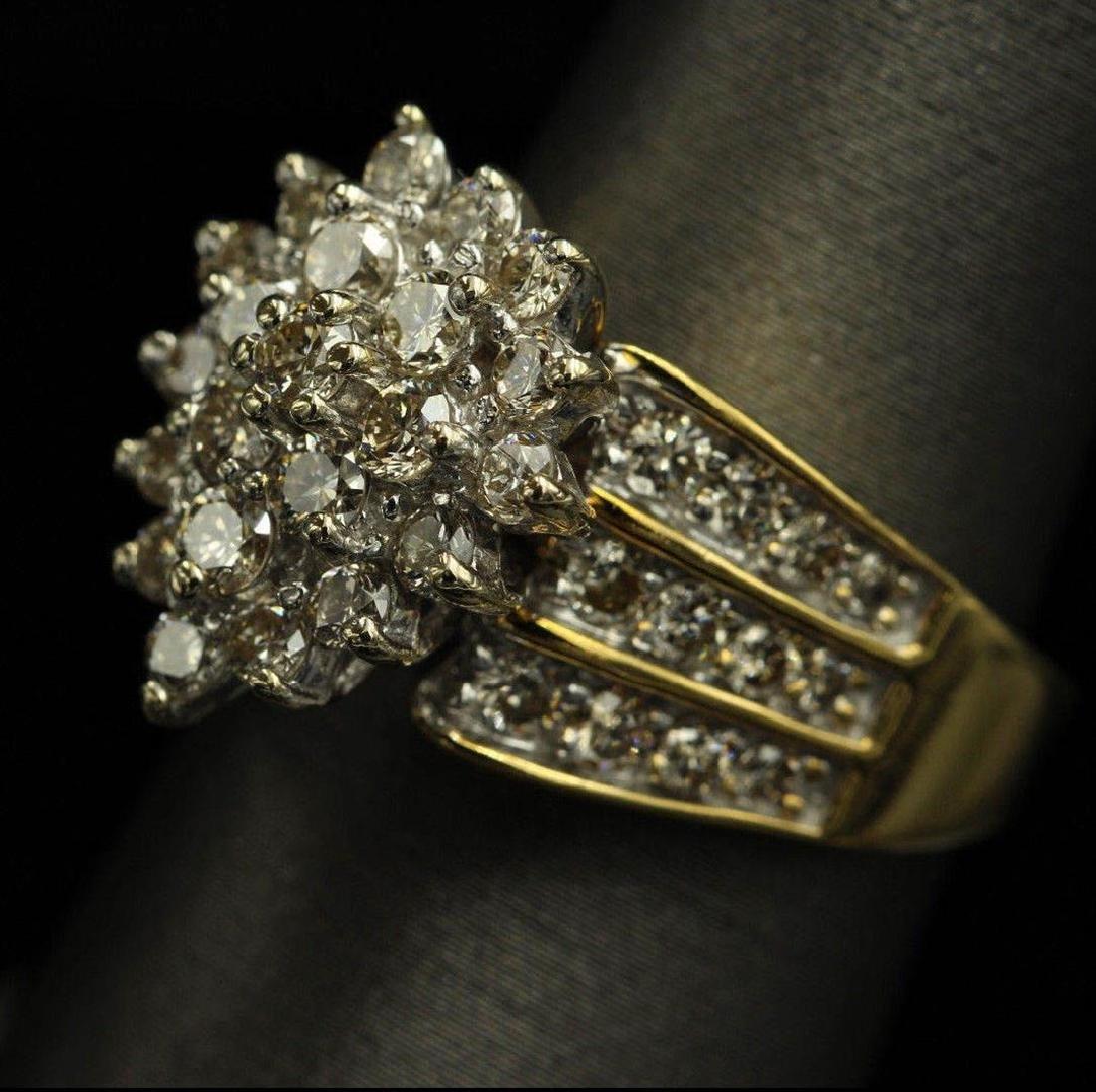 2.05 ctw Diamond Ring - 14KT Yellow Gold - 5