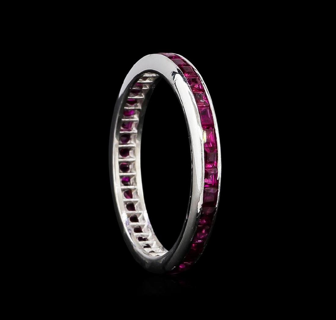 1.00 ctw Ruby Ring - 14KT White Gold - 2