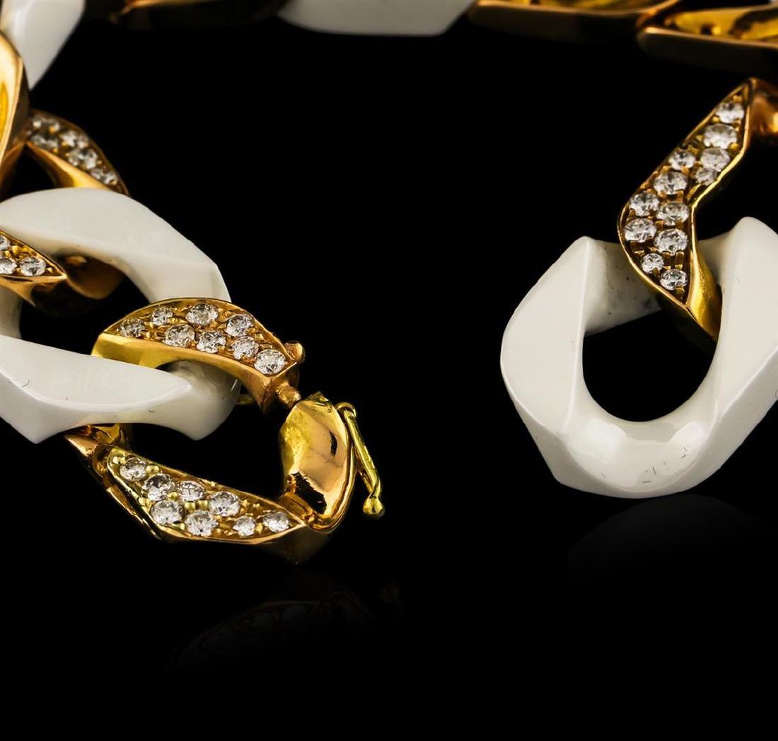 4.20 ctw Diamond Bracelet - 18KT Yellow Gold - 3