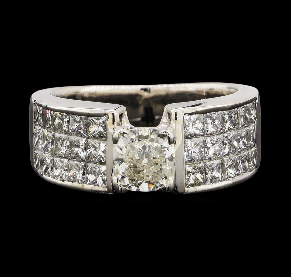2.90 ctw Diamond Ring - 14KT White Gold - 2