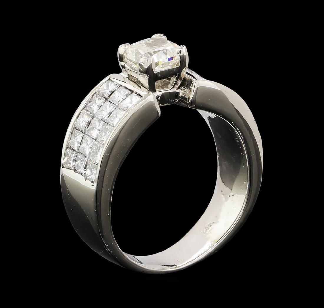 2.90 ctw Diamond Ring - 14KT White Gold - 4