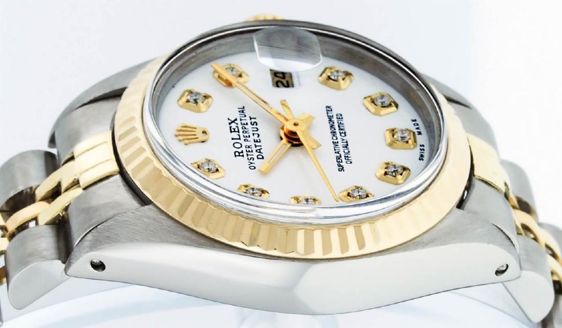Rolex Ladies 2 Tone 14K White Diamond 26MM Datejust - 3