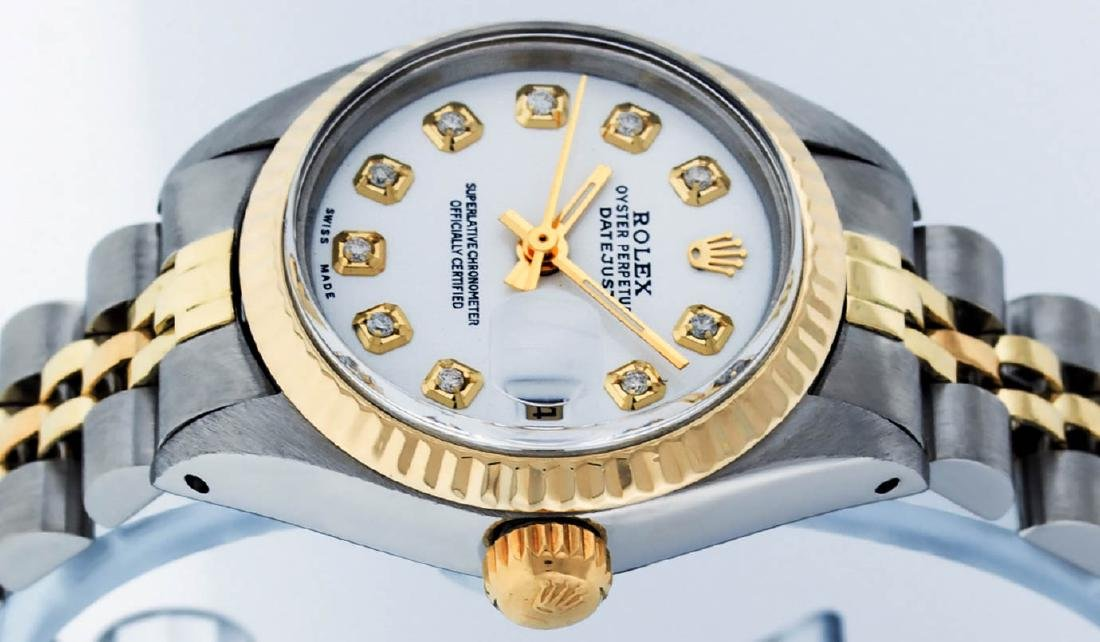 Rolex Ladies 2 Tone 14K White Diamond 26MM Datejust - 4