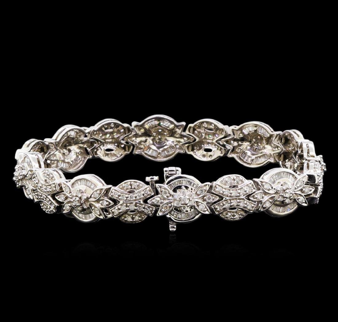 2.53 ctw Diamond Bracelet - 14KT White Gold - 2