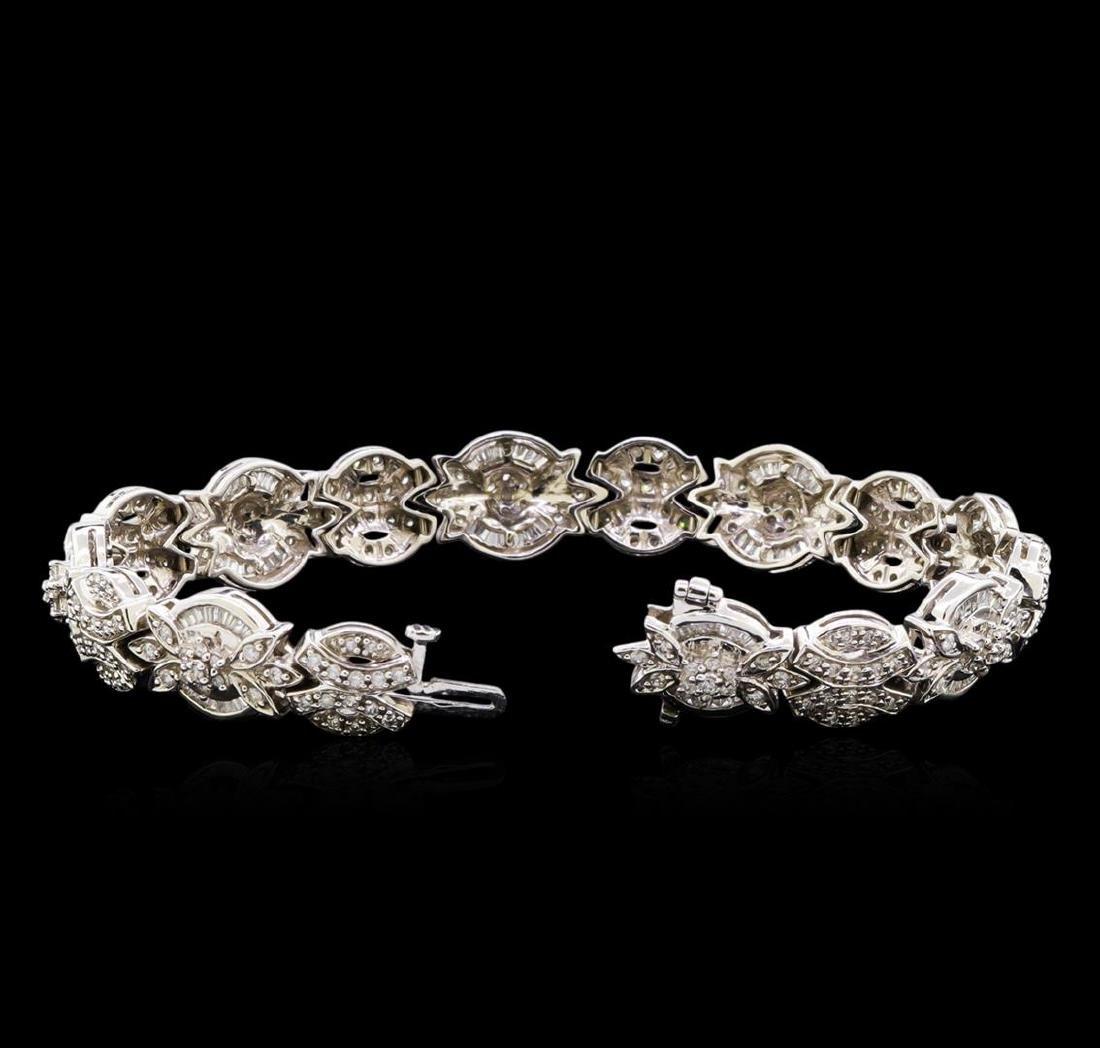 2.53 ctw Diamond Bracelet - 14KT White Gold - 3