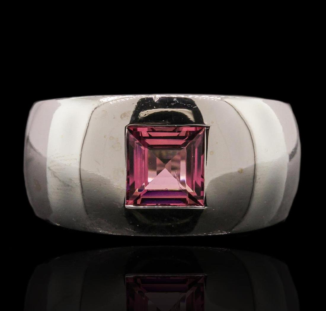 18KT White Gold 1.40 ctw Pink Tourmaline Ring - 2