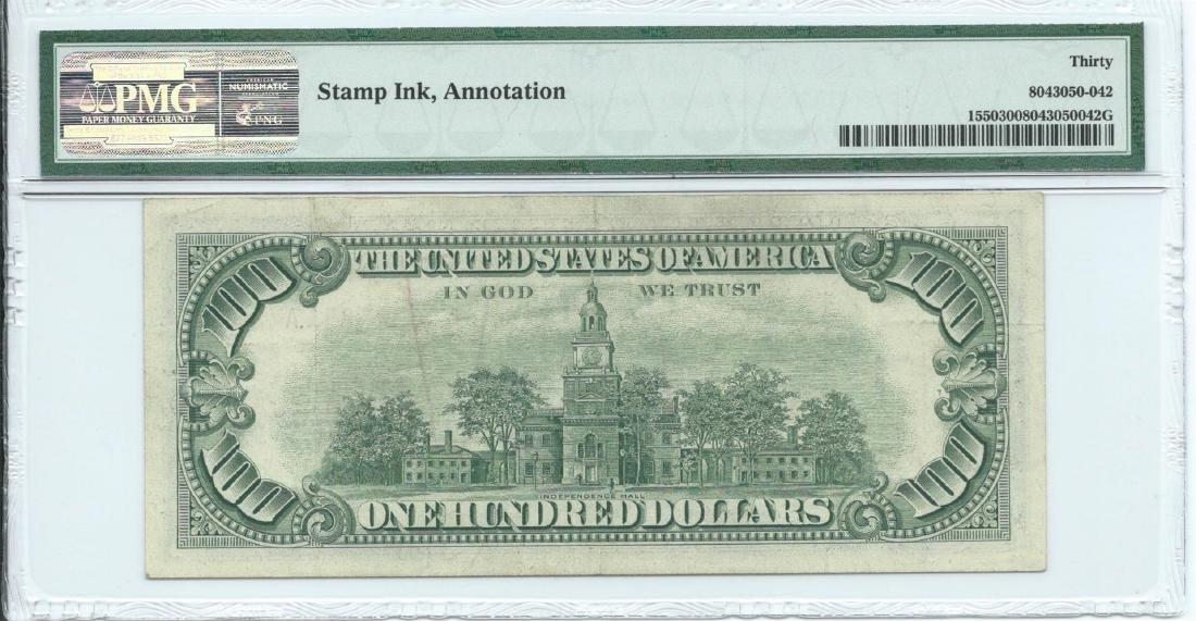 1966 $ 100 Legal Tender Note PMG Very Fine 30 - 2