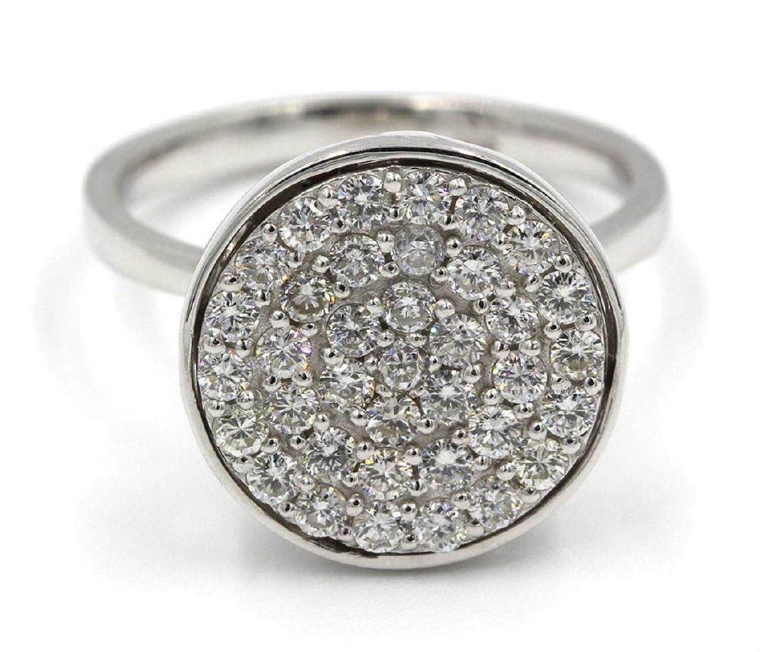 0.75 ctw Diamond Dome Ring - 14KT White Gold
