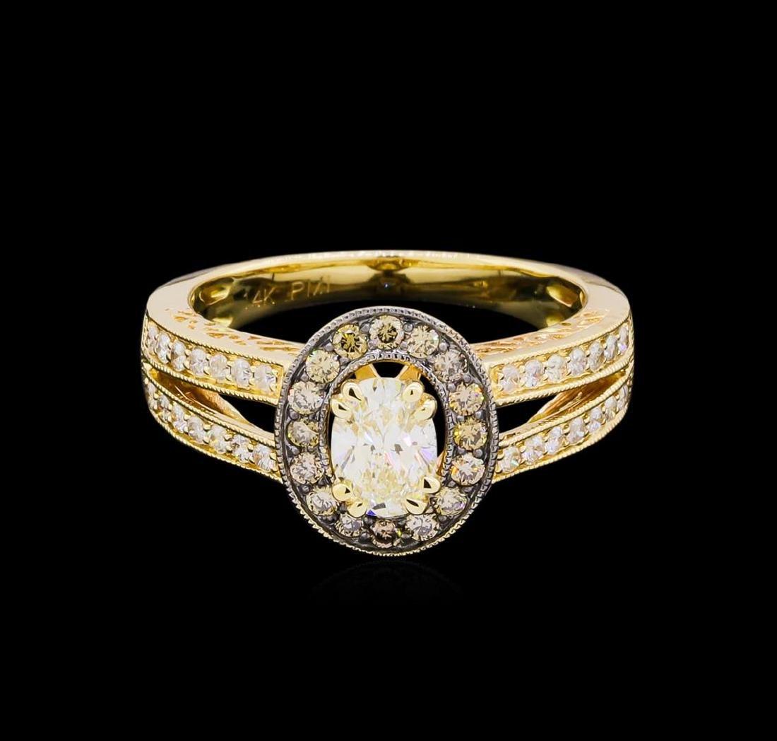 14KT Yellow Gold 0.95 ctw Diamond Unity Ring - 2