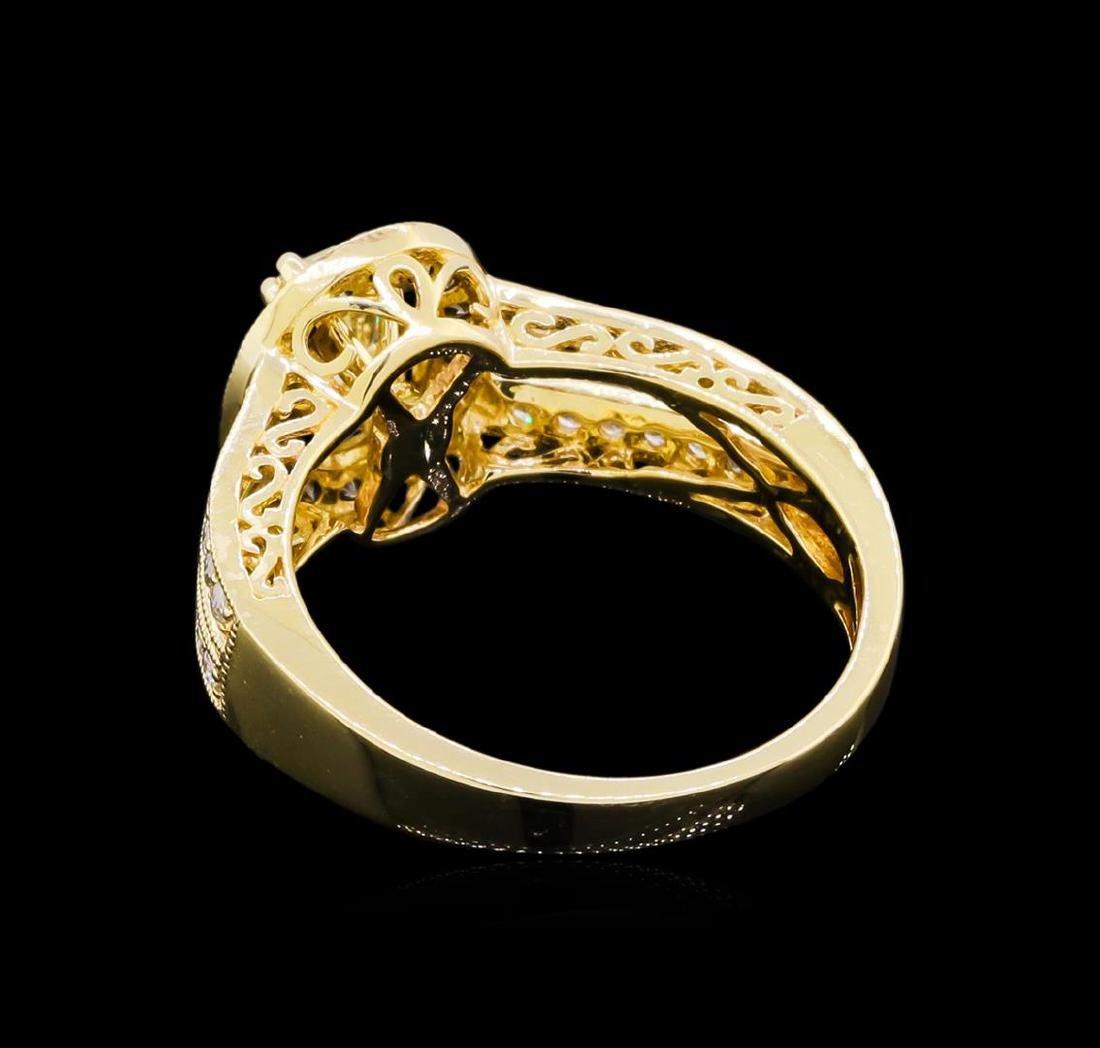 14KT Yellow Gold 0.95 ctw Diamond Unity Ring - 3