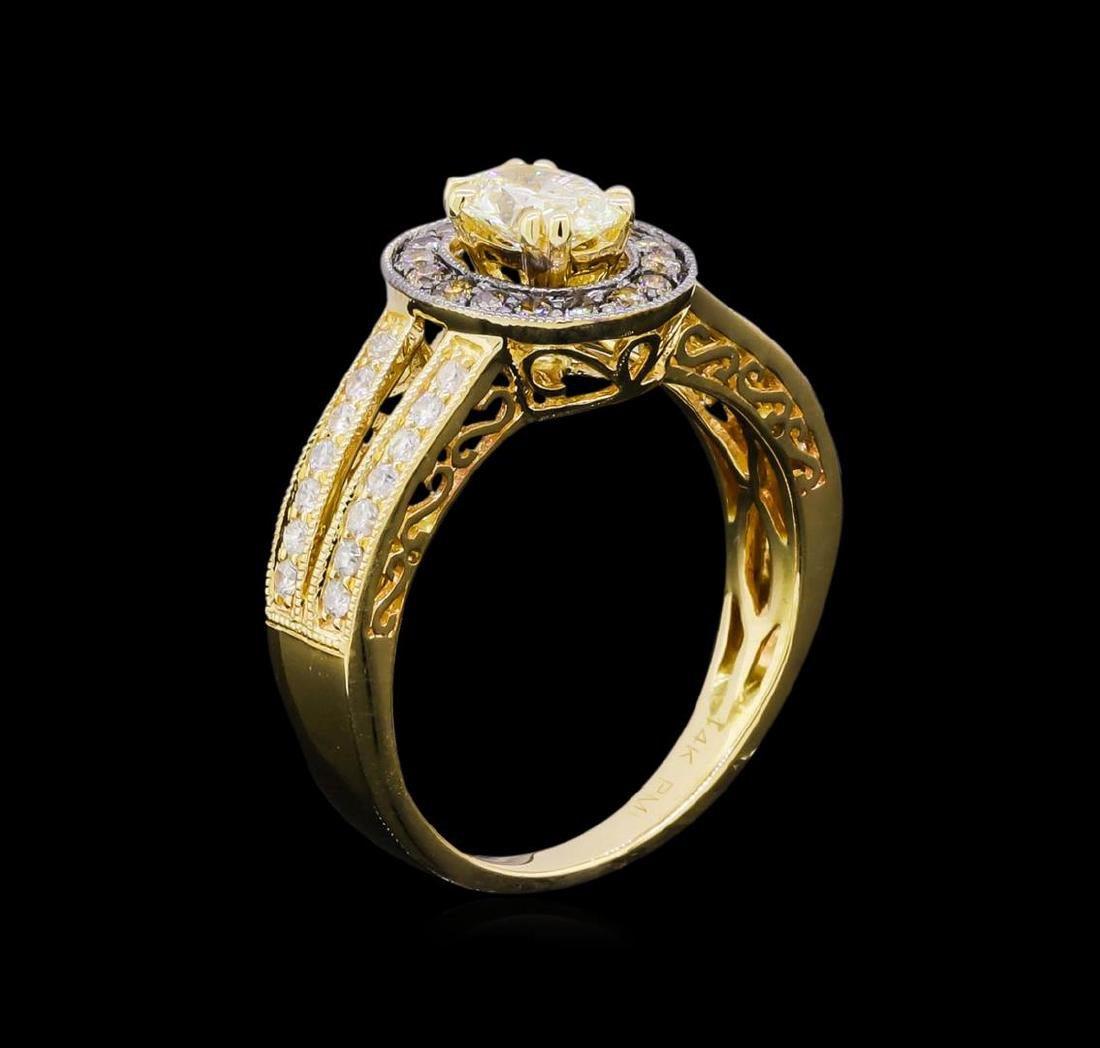 14KT Yellow Gold 0.95 ctw Diamond Unity Ring - 4