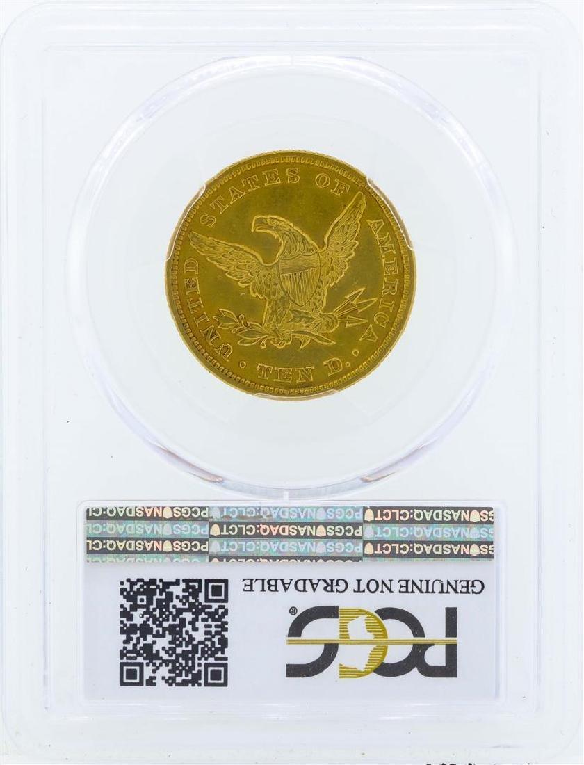 1848 $10 Liberty Head Eagle Gold Coin PCGS Genuine AU - 2