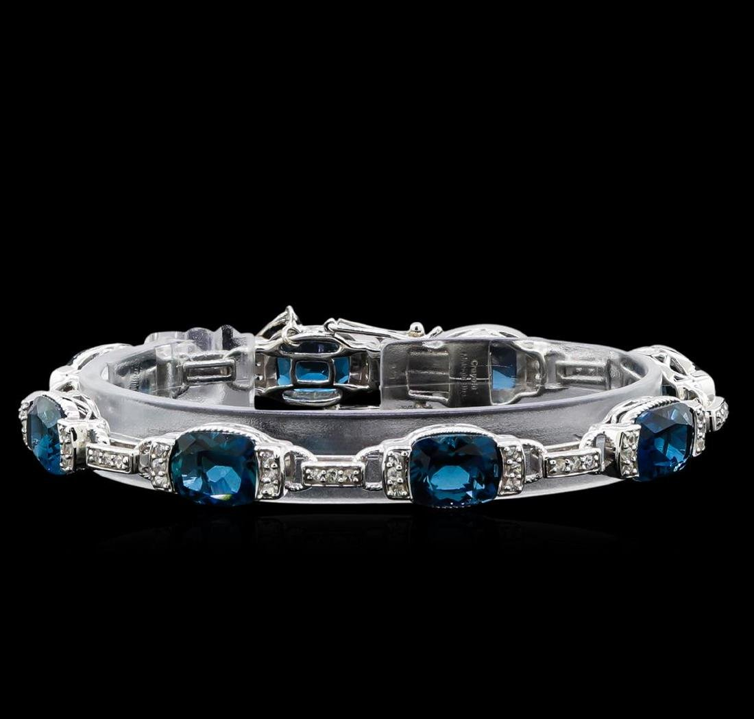 Crayola 27.00 ctw Blue Topaz and White Sapphire