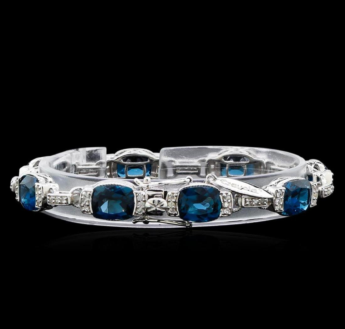 Crayola 27.00 ctw Blue Topaz and White Sapphire - 2