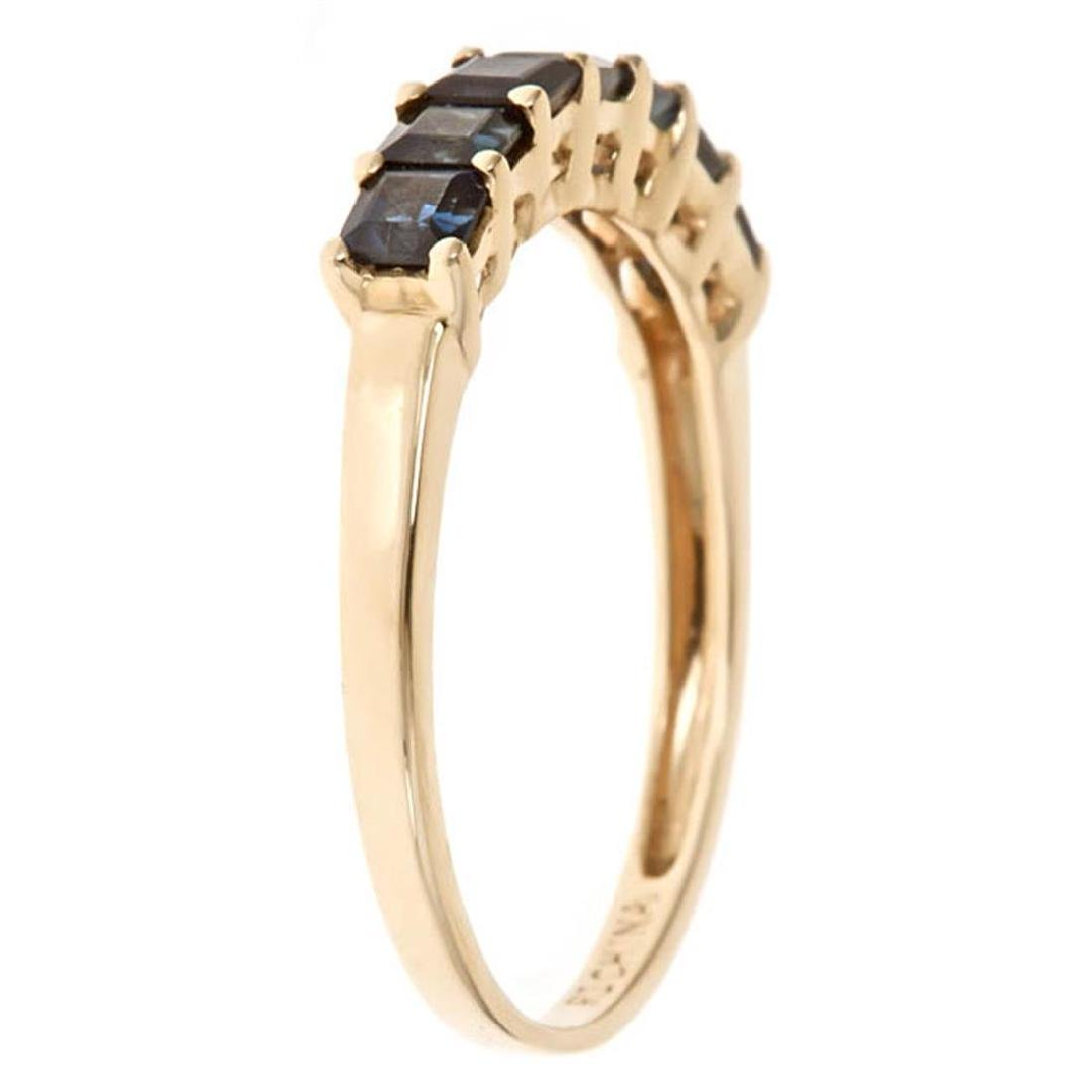1.33 ctw Sapphire Ring - 14KT Yellow Gold - 2