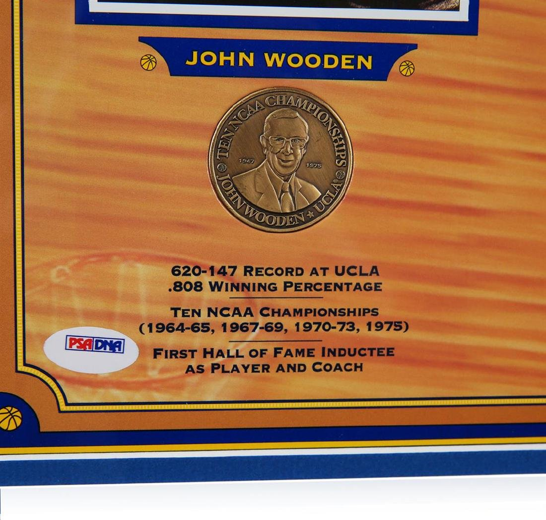 PSA Certified John Wooden and Bill Walton Pyramid of - 3