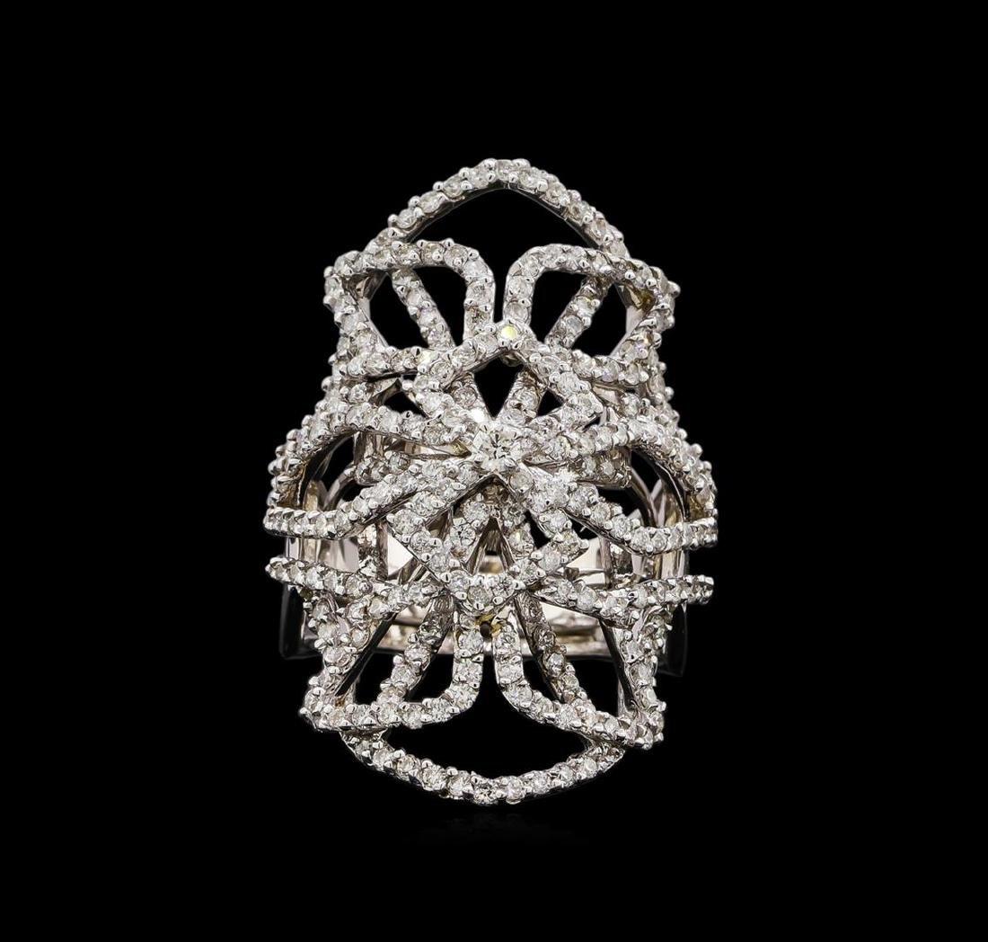 14KT White Gold 1.11 ctw Diamond Ring - 2
