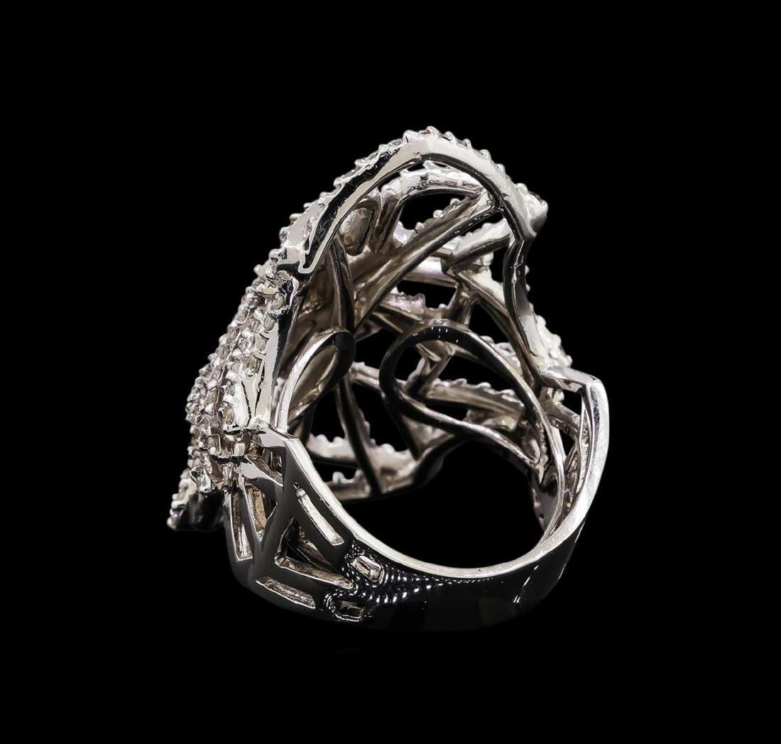 14KT White Gold 1.11 ctw Diamond Ring - 3