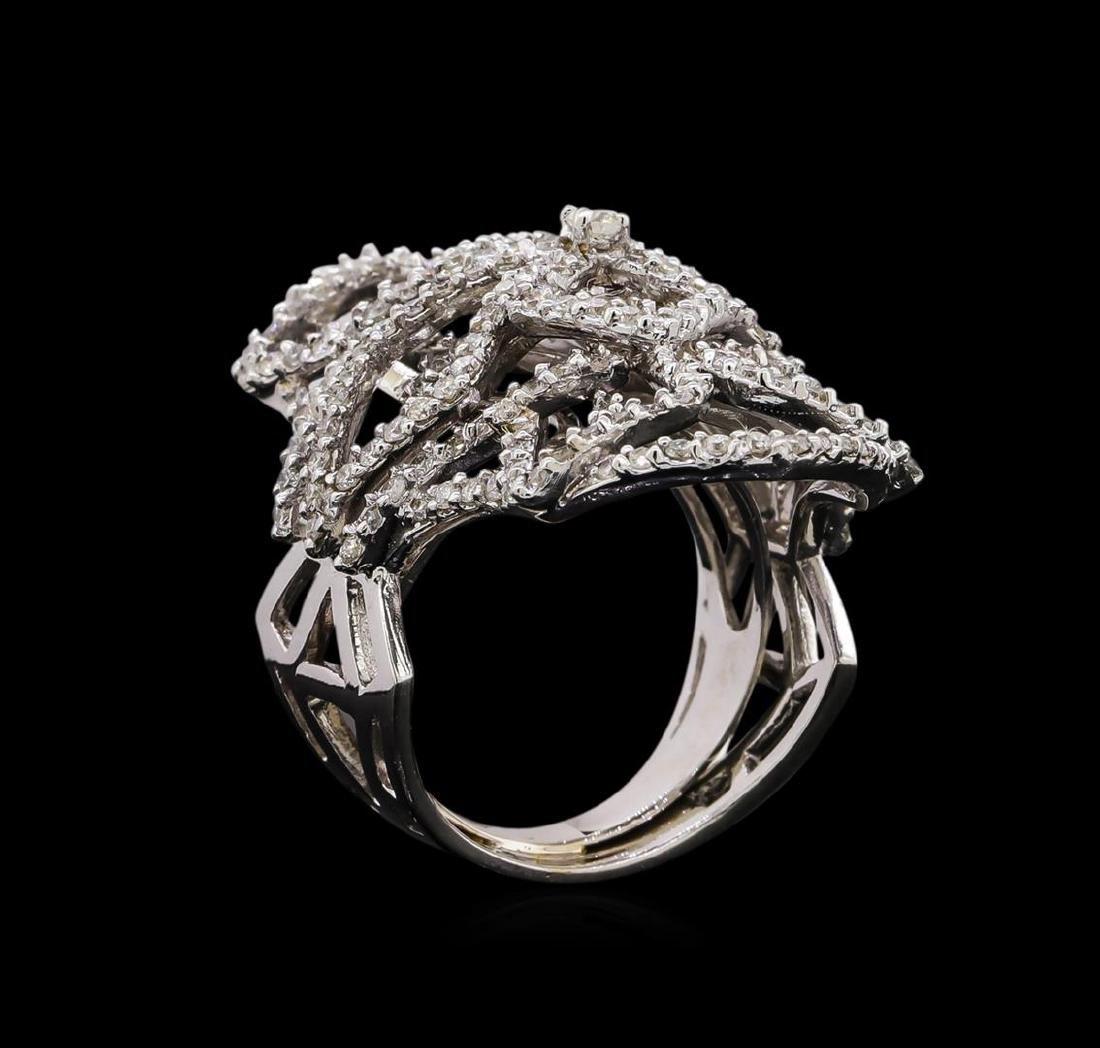 14KT White Gold 1.11 ctw Diamond Ring - 4