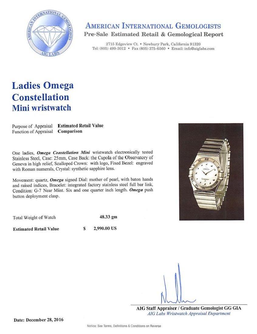 Omega Stainless Steel Constellation Mini Ladies Watch - 4