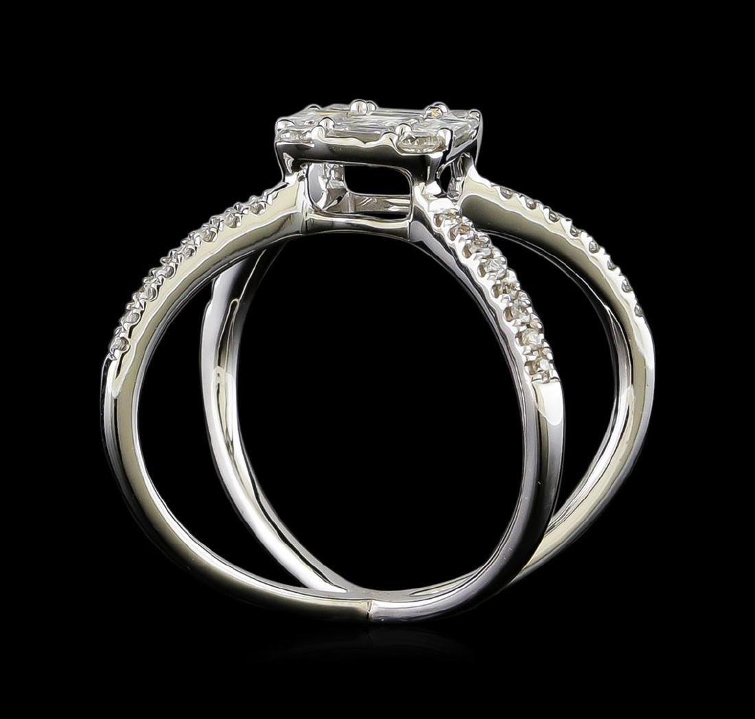 1.07 ctw Diamond Ring - 18KT White Gold - 2