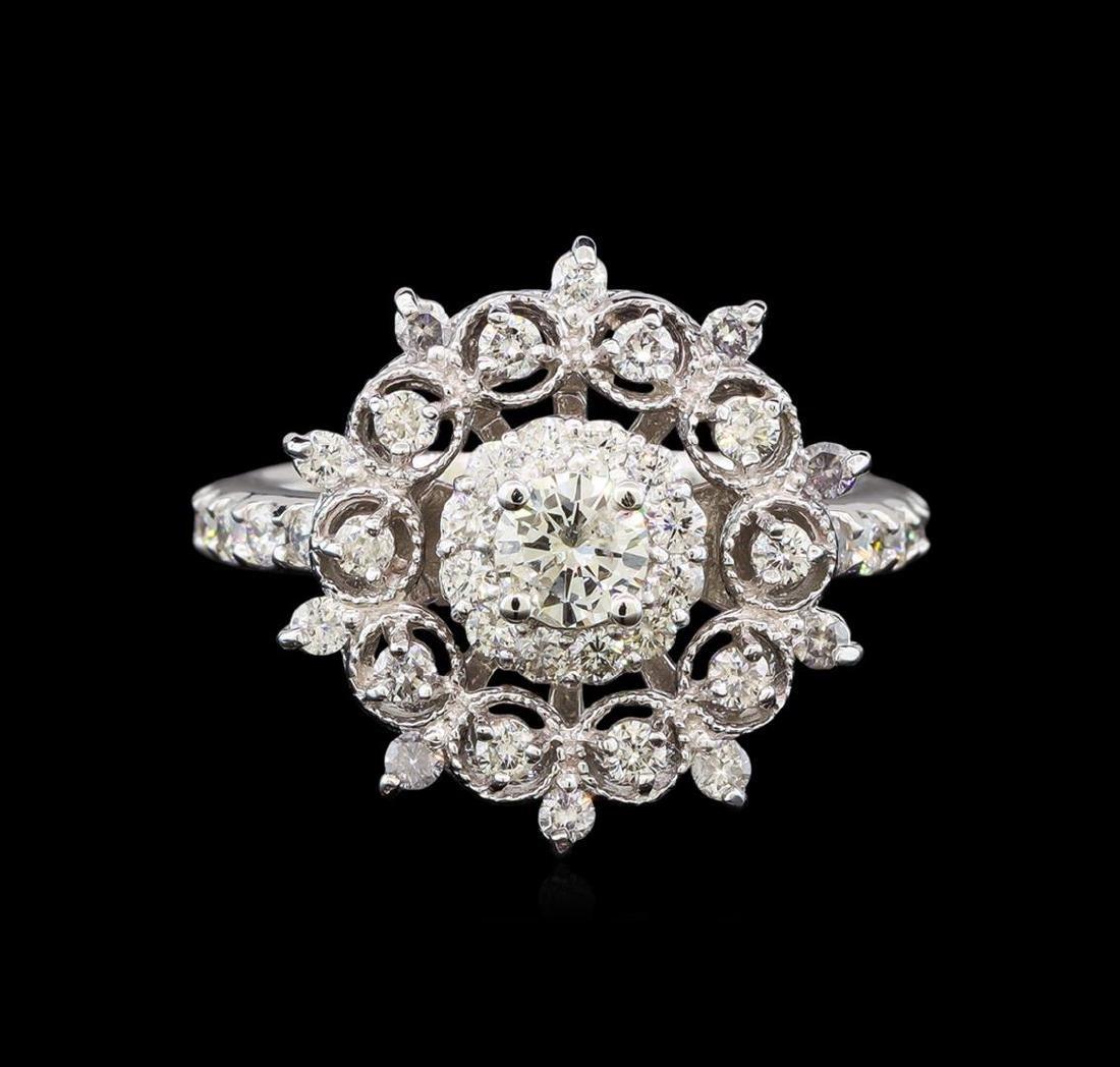 14KT White Gold 0.51 ctw Diamond Ring - 2