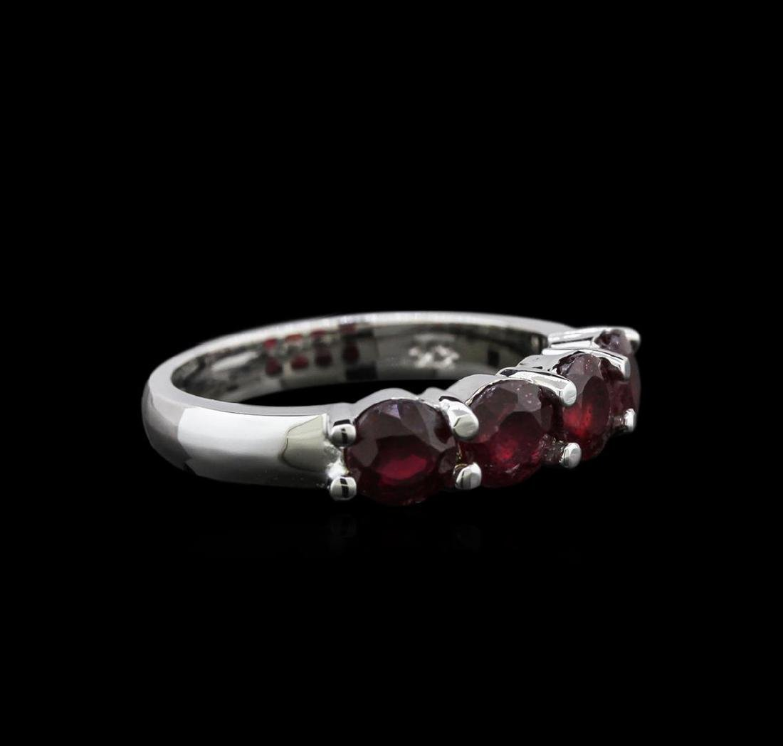 2.85 ctw Ruby Ring - 14KT White Gold