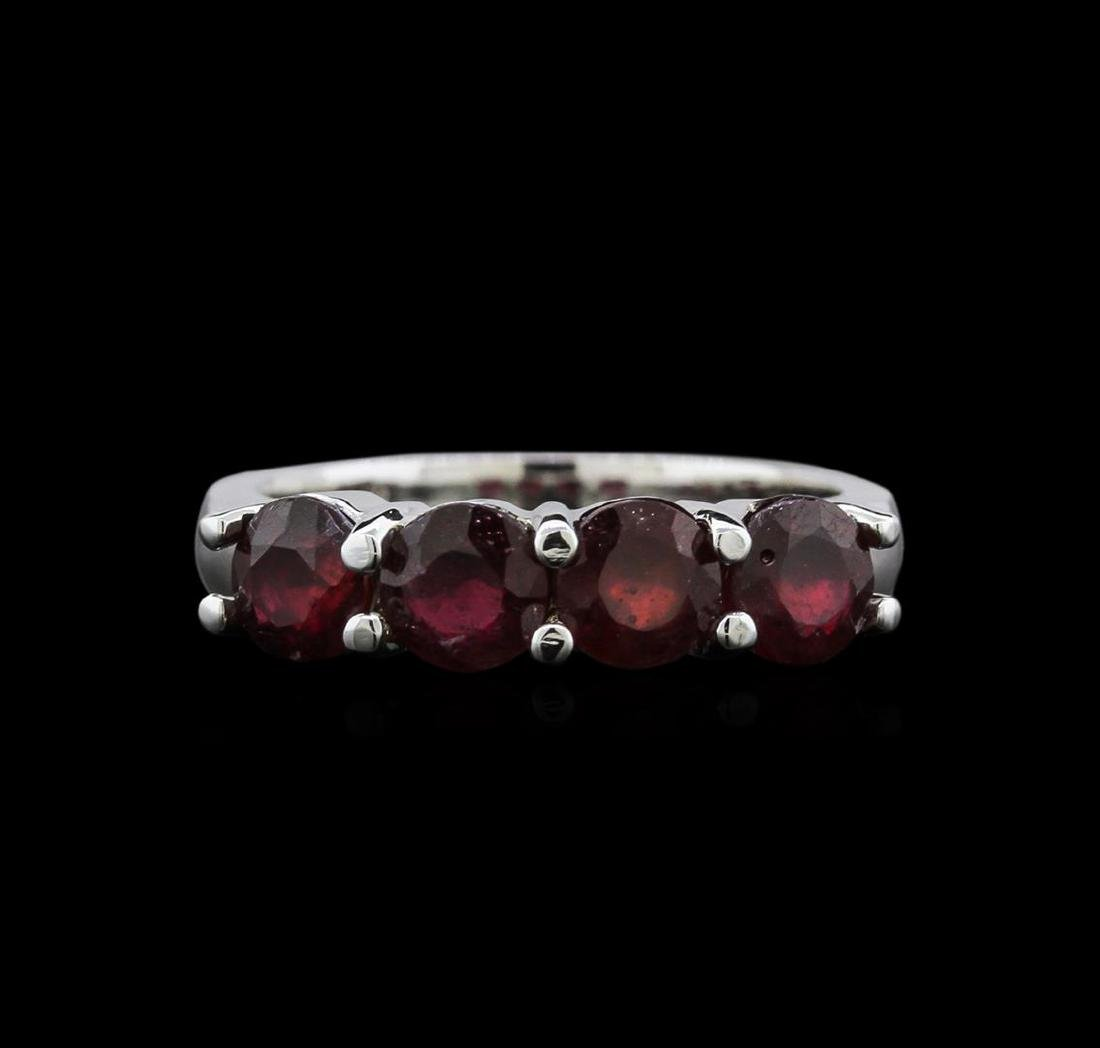 2.85 ctw Ruby Ring - 14KT White Gold - 2