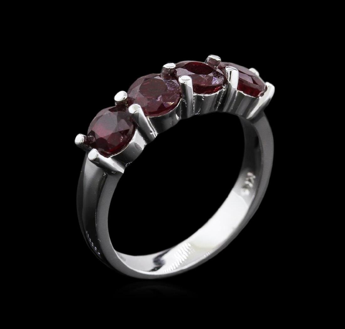 2.85 ctw Ruby Ring - 14KT White Gold - 3