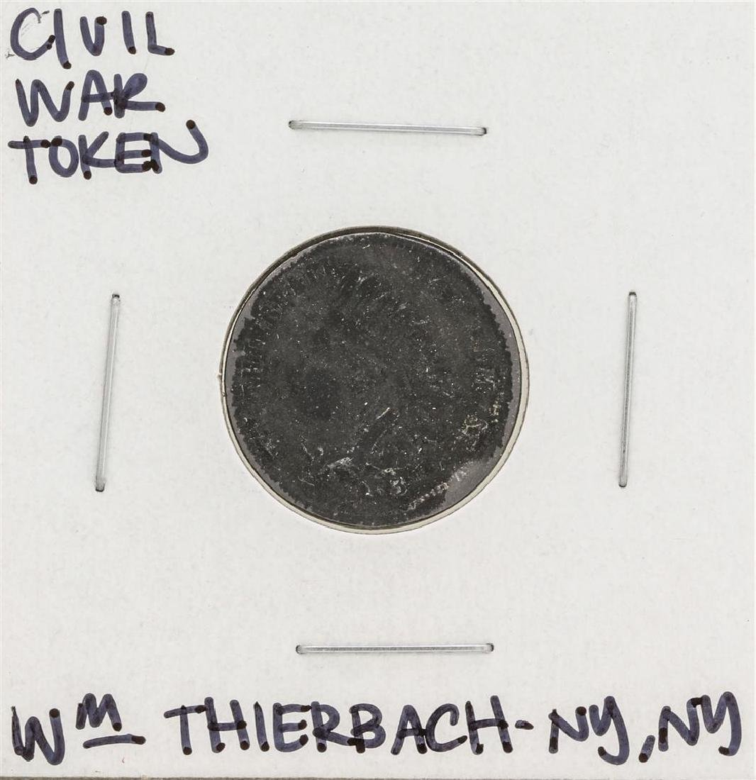 1863 Civil War Token WM Thierbach Grocer New York