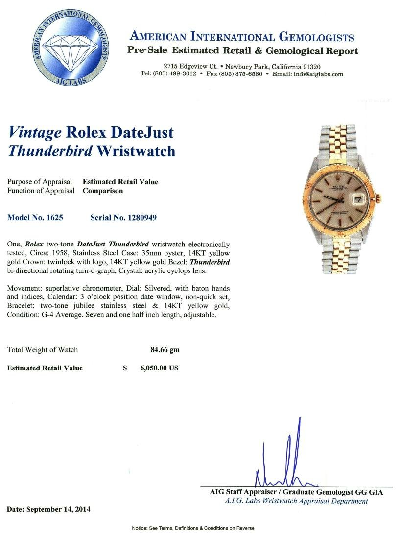 Rolex Two-Tone DateJust Thunderbird Vintage Wristwatch - 4