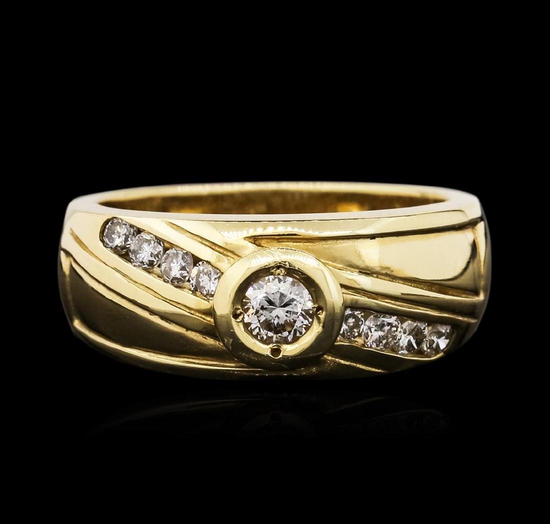 14KT Yellow Gold 0.45 ctw Diamond Ring - 2