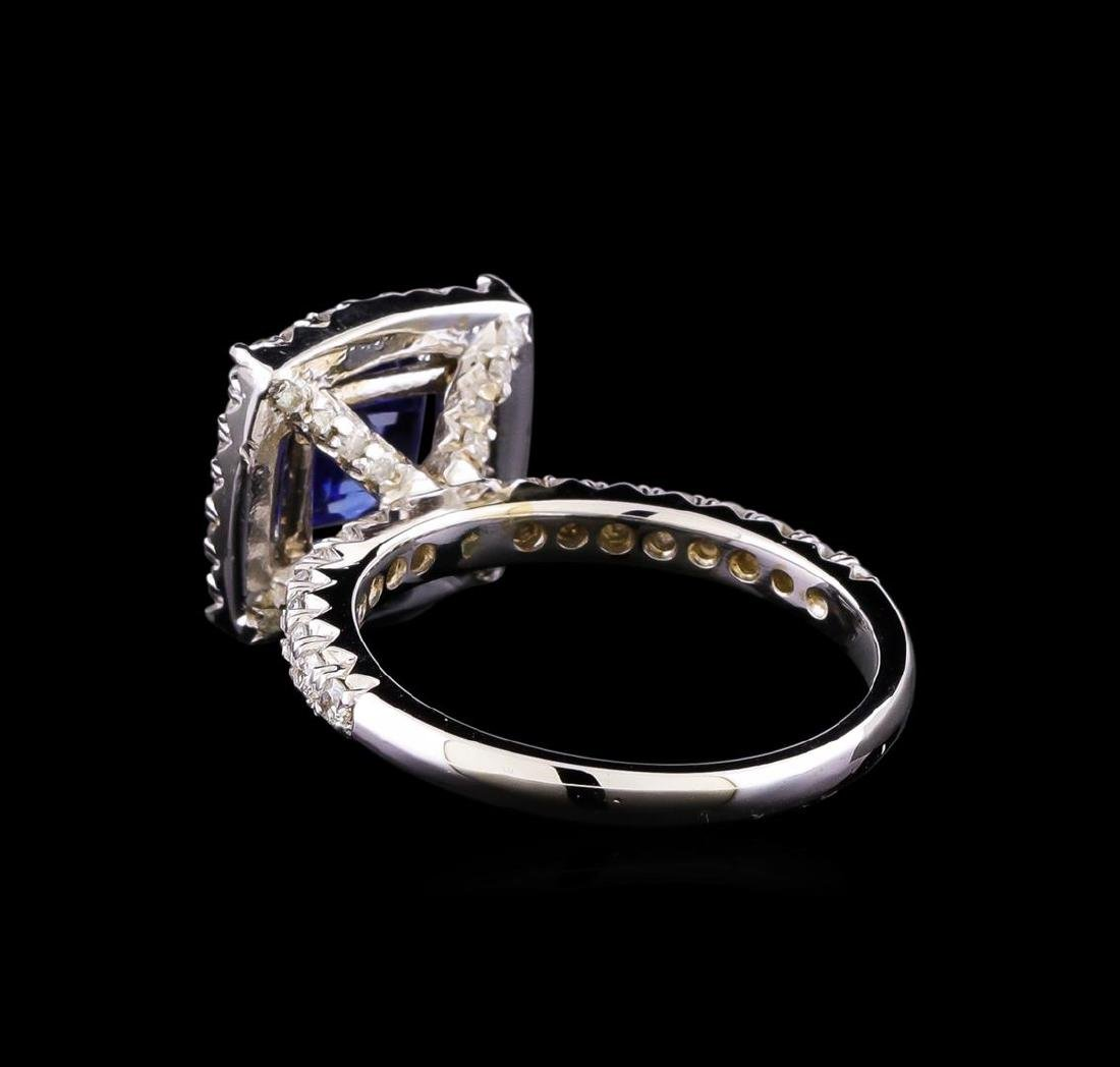 14KT White Gold 3.03 ctw Sapphire and Diamond Ring - 3